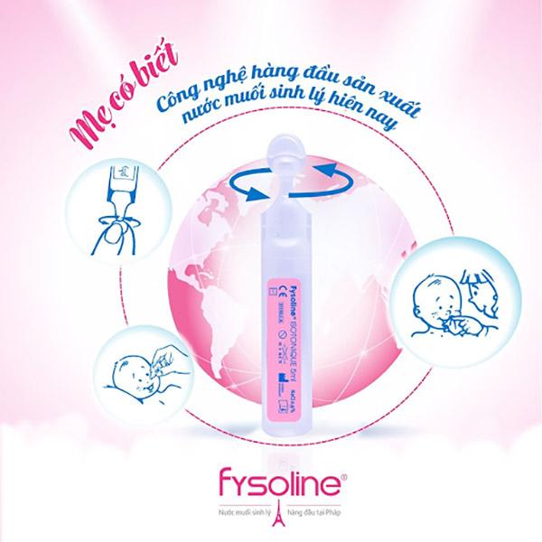 Thiết kế của nước muối Fysoline có dạng ống
