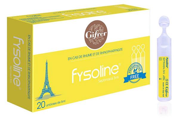 Nước muối sinh lý kháng viêm của Pháp Fysoline vàng