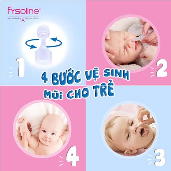 Hướng dẫn rửa mũi cho trẻ sơ sinh