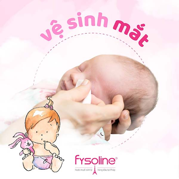 Nước muối sinh lý Physiologica vệ sinh mắt cho trẻ sơ sinh