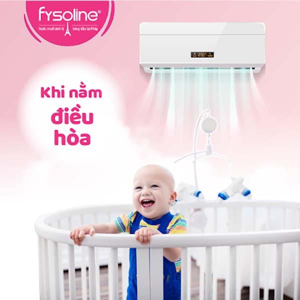 Rửa mũi cho trẻ sơ sinh khi nằm điều hoà