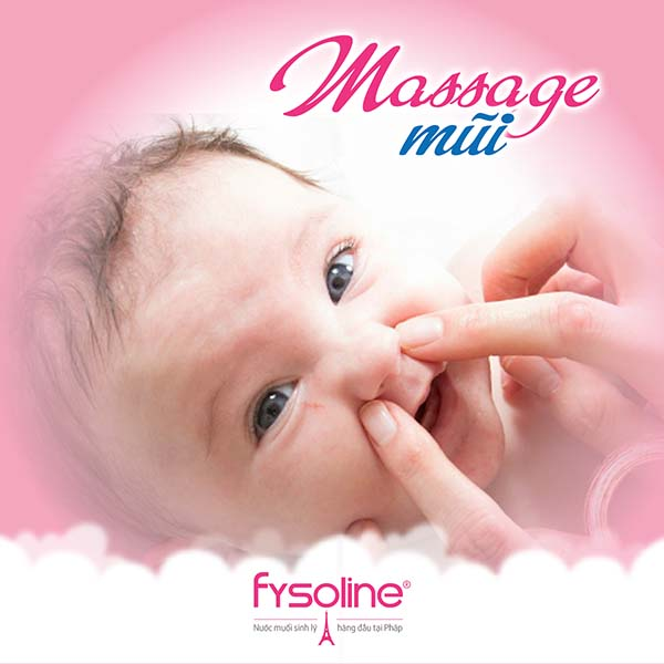 Massage mũi cho trẻ khi bị sổ mũi