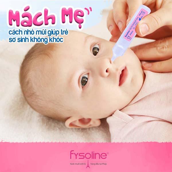 Nước rửa mũi cho trẻ sơ sinh Fysoline Hồng