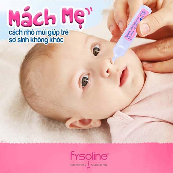 Vệ sinh mũi cho trẻ sơ sinh