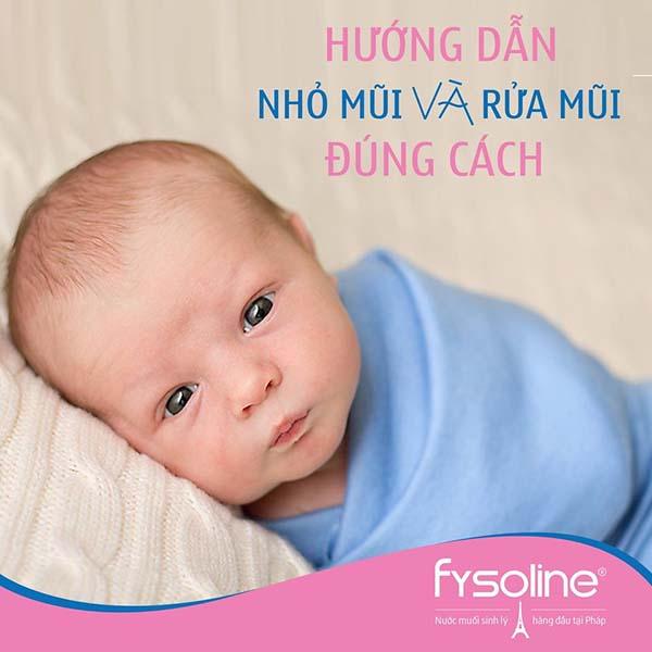 Cách vệ sinh mũi cho bé hàng ngày