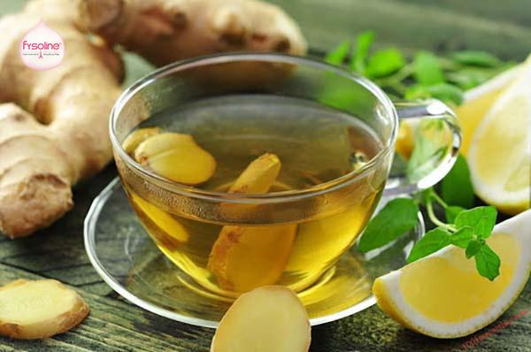 Chữa viêm mũi bằng trà gừng