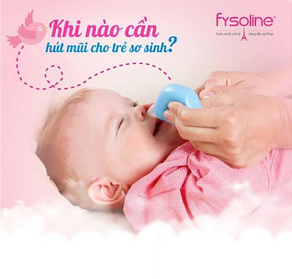 Không nên hút hoặc rửa mũi cho bé quá nhiều lần