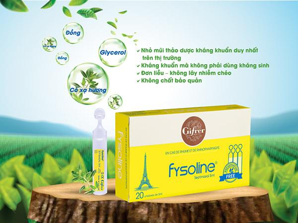 Nước muối sinh lý kháng viêm Fysoline vàng