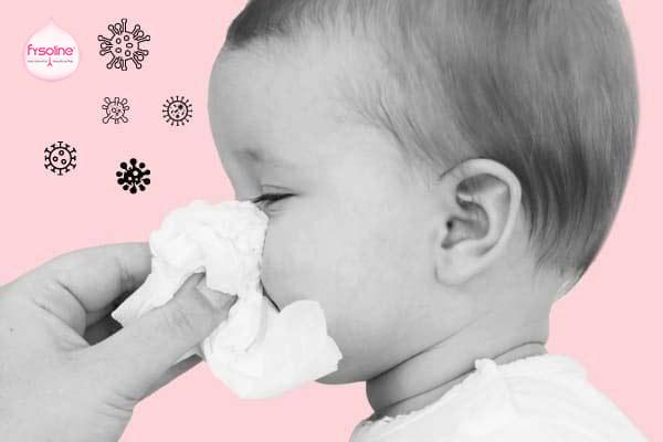Trẻ bị sổ mũi do dị ứng