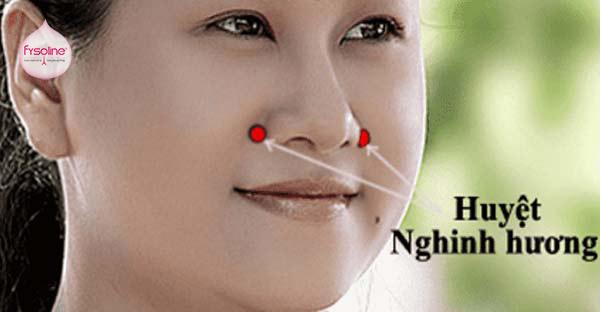 Bấm huyệt xung quanh mũi khi bà bầu bị viêm mũi dị ứng