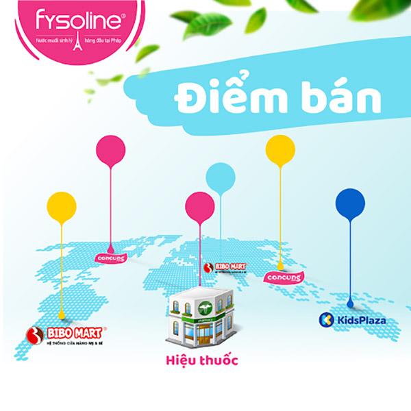 Điểm bán nước muối sinh lý Fysoline