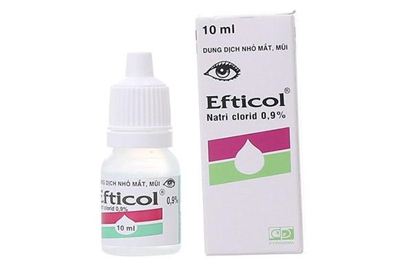 Nước muối nhỏ mắt Efticol 0.9%