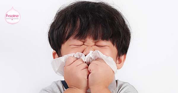 Trẻ bị cảm cúm sổ mũi